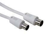 CABLE DE TV ANTENA PROLONGADOR CONECTORES COLOR BLANCO  2 m