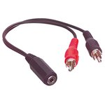CABLE AUDIO 2xRCA MACHO  JACK ESTEREO HEMBRA 3.5mm 20c