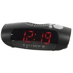 RADIO DESPERTADOR ALARMA DISPLAY ROJO PANTALLA LED 230V