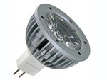 BOMBILLA CON LED 1W COLOR BLANCO FRIO 6400K 230Vac CASQUILLO MR16