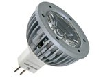 BOMBILLA CON LED 3W COLOR BLANCO FRIO 6400K 230VAC MR16  AHORRO DE ENERGIA