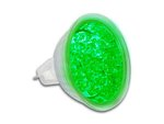 BOMBILLA LED COLOR VERDE CONEXION MR16 12Vac CONSUMO 084W