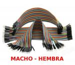 40 CABLES DUPONT PIN CONECTOR PLACA PROTOBOARD ARDUINO  MACHO  HEMBRA  20cm