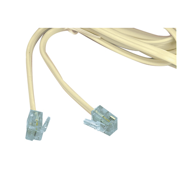 CABLE DE EXTENSION MODULAR RJ11 LONGITUD 2m TIPO PLANO