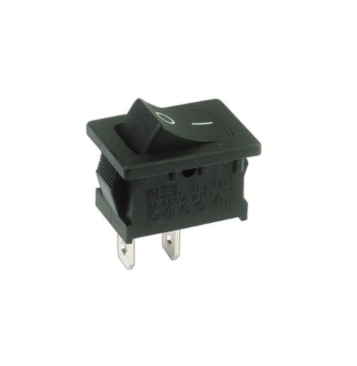 MINI INTERRUPTOR UNIPOLAR 2 POSICIONES ON  OFF CON TERMINALES FASTON FASTON