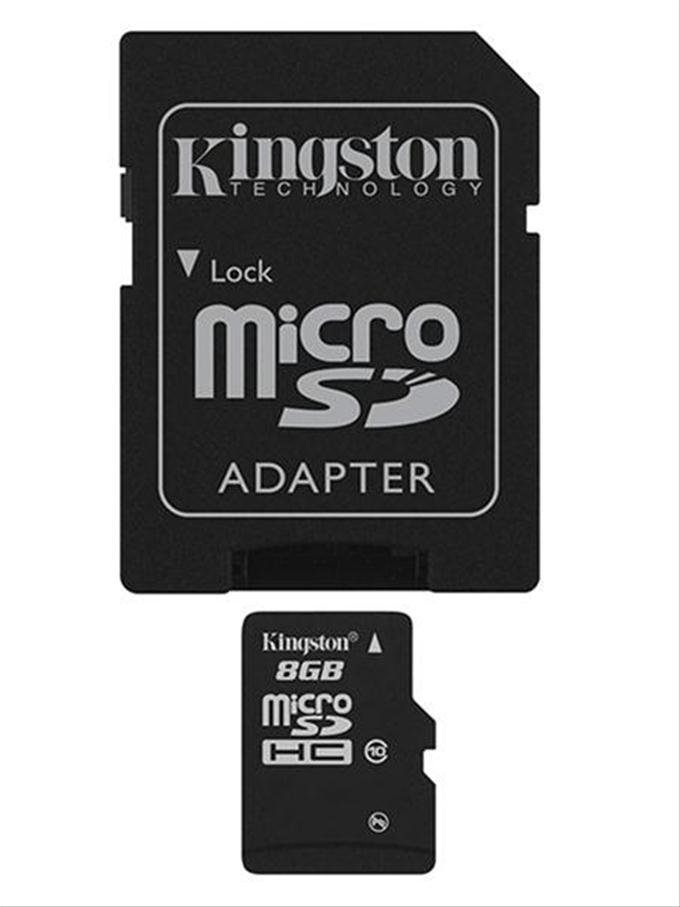 MEMORIA MICRO SD MICROSD ADAPTADOR TARJETA KINGSTON  8GB C10 CLASE 10