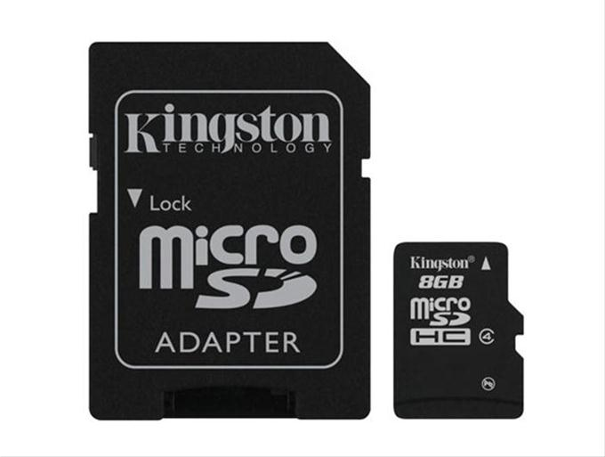MEMORIA MICRO SD MICROSD ADAPTADOR TARJETA KINGSTON  8GB C4 CLASE 4