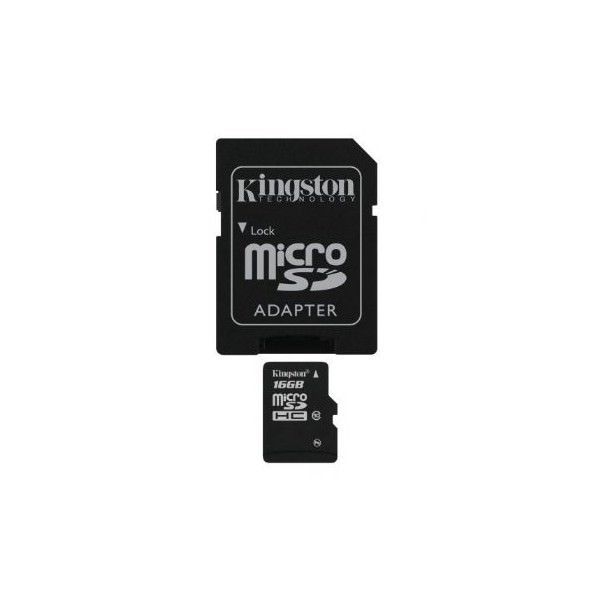 MEMORIA MICRO SD MICROSD ADAPTADOR TARJETA KINGSTON  16GB C10 CLASE 10